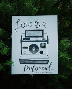 Imagine Dragons Polaroid Lyrics Hand Drawn by KatydidCalligraphy