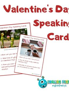 Valentine's Day Speaking Cards - let's talk! Valentines Day, Let It Be, Frame, Cards, Blog, Pictures, Valentine's Day Diy, Velentine Day, Photos