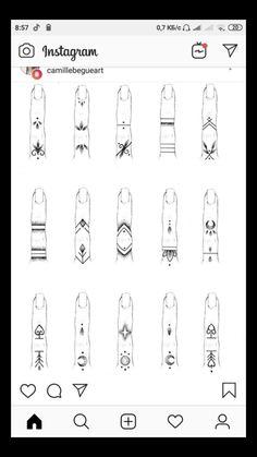 Finger Tattoo Designs, Girl Finger Tattoos, Finger Tattoo For Women, Hand Tattoos For Women, Henna Tattoo Designs, Cute Tiny Tattoos, Small Hand Tattoos, Mini Tattoos, Body Art Tattoos