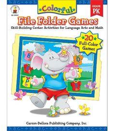 #CDWishList  Colorful File Folder Games File Folder Game