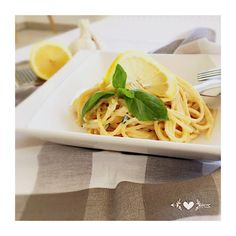 Spaghetti au citron et basilic Recette légère Spaghetti, Saveur, Yummy Food, Ethnic Recipes, Lemon, Chocolates, Lawyer, Food, Kitchens