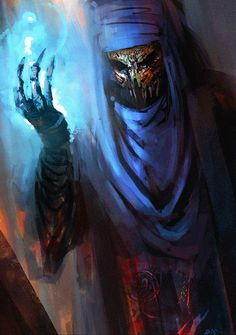 Lands of the Deru-ghol Darkspell cydasnecro mage   Very evil looking character by Maciej  