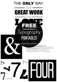 In order to get the look I wanted and to save money, I ended up making all of the prints myself. And as promised, here are FREE Typography Printables just for you! Printable Numbers, Printable Wall Art, Printable Labels, H Design, Design Ideas, Free Prints, Grafik Design, Wonderwall, Botanical Prints