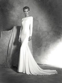 Vestido Ivania, sencillo y manga larga