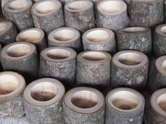This listing is for a Set of 24 Wood Candle Holders. My husband will make each grouping out of Brown Tree Branches. All candle holders will be approx. 2+ inches wide x 2 inches tall. Each set of holders can be drilled with either a tea candle hole size (as shown in the photos) or a taper candle hole size. You will be able to select the size, when you check out. (candles are not included in this sale).  This Candle Grouping would be perfect table decorations for your Rustic Woodland Wedding…