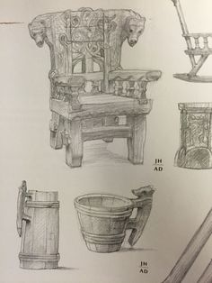 Beorn's props by Alan Lee and John Howe