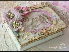 Romantic French Vintage - Tutorial Decoupage - YouTube