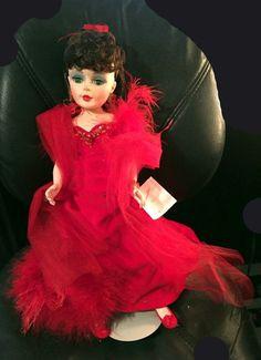 "21"" Doll Madame Alexander Porcelain Scarlett Gone with the Wind Red Dress # 2253 #Dolls"