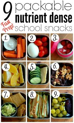 9 Packable Nutrient Dense School Snacks :: School snack time can be both nourish.,Healthy, Many of these healthy H E A L T H Y . 9 Packable Nutrient Dense School Snacks :: School snack time can be both nourishing and quick prep with these gr. Lunch Snacks, Clean Eating Snacks, Healthy Eating, Work Lunches, Healthy Snacks For School, Snack Boxes Healthy, Healthy Lunches, Quick Healthy Snacks, Healthy Foods