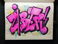 Sieh dir Instagram-Fotos und -Videos von @zyberikus an Graffiti Words, Graffiti Drawing, Graffiti Alphabet, Graffiti Lettering, Block Lettering, Grafitti Street, New Fonts, Book Art, Drawings