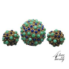 Green and lapis pin and earring set https://www.etsy.com/listing/180550259/green-and-lapis-pin-and-earring-set?ref=shop_home_active_3