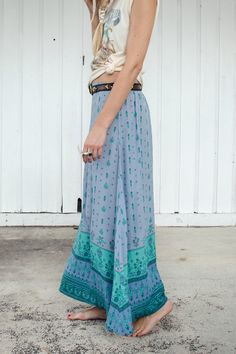 Desert Wanderer Maxi Skirt - Dawn | Spell & the Gypsy Collective- tie your shirt bottom