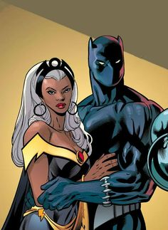 Storm And Black Panther By Scott Eaton More