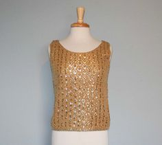 the perfect little retro 60s sequin cocktail top