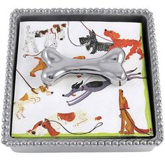 FOR THE HOSTESS WHO LOVES TO ENTERTAIN ALL YEAR ROUND - Dog Bone Napkin Box by Mariposa