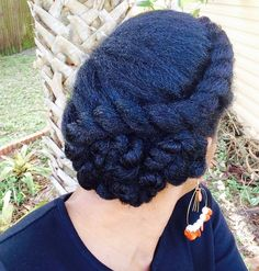 Natural Hair/Asymmetric Flattwist Protectivestyle Updo