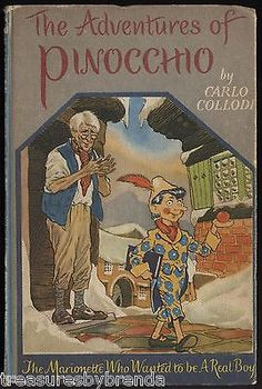 The Adventures Of Pinocchio Carlo Collodi Vintage 1961 Hardcover Book
