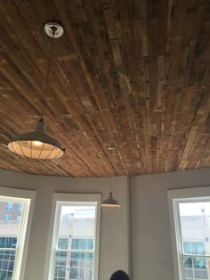 Old planks on ceiling. Plank Walls, Chandelier, Ceiling Lights, Planks, Lighting, Windsor, Wood, Google, Photos