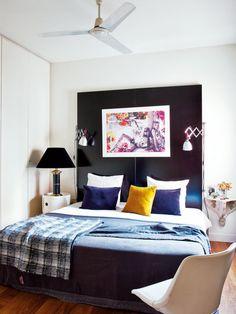 black headboard , textiles mood