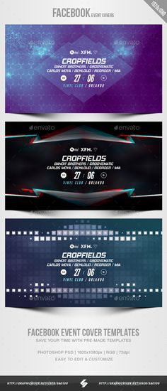 Electronic Music Party 01 - Facebook Event Cover Templates #Party, #Electronic, #Music, #Cover Dj Party, Music Party, Event Template, Banner Template, Preschool Newsletter Templates, Event Banner, Cover Template, Graphic Design, Design Web
