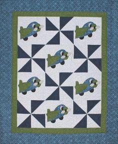 Aero Plane Baby Airplane Quilt | Craftsy