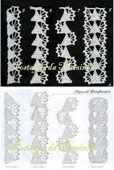 Easiest Crochet Frills Border Ever! Crochet Tree, Love Crochet, Learn To Crochet, Irish Crochet, Easy Crochet, Knit Crochet, Granny Square Crochet Pattern, Crochet Borders, Crochet Edgings