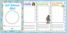 All About Me Transition Booklet - all about me, eyfs, transition