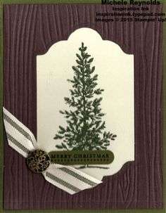 Lovely as a Tree Framed Christmas Pine by Michelerey - Cards and Paper Crafts at Splitcoaststampers