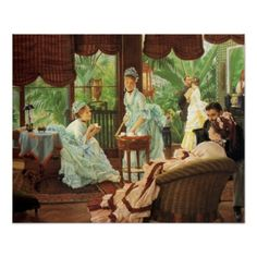 James Tissot Victorian Tea Party Poster, found on Zazzle.com Tea is truly an experience that has been enjoyed for many generations.