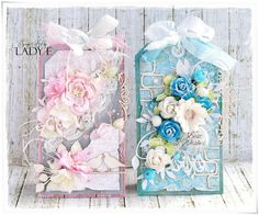 Scrap Art by Lady E Flowers, Shabby Chic tags