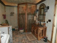 Rustic Bathroom Showers