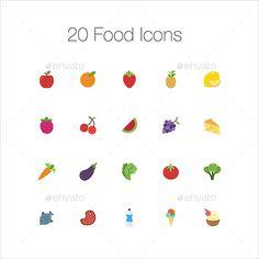 20 Food Icons
