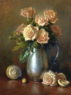 Rosas Sweetheart Pintura - Sweetheart Roses Fine Art Print