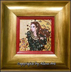 MINIATURE TINKARA Mixed media on canvas: 10 x10 cm Frame: 21 x 21 2,5 cm
