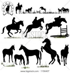 Horse Silhouette Clip Art Free | Horse Silhouettes Stock Photo & Stock Images | Bigstock