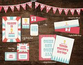 circus party printables, carnival party decorations, under the big top birthday printable, circus printables, carnival birthday printables