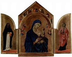 London triptych, Madonna with angels and prophets - Duccio