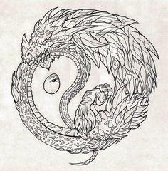 Ouroboros Dragon Tattoo