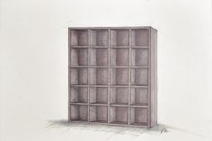 Handcrafted, bespoke, wooden book case. Simple and natural furnitures.