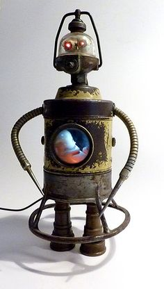 """""""Lili"""" Assemblage Robot Sculpture by Boing! Boing!, via Flickr"""