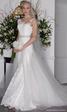 legends romona keveza fall 2016 re embroidered lace wedding dress detachable italian net overskirt l6137