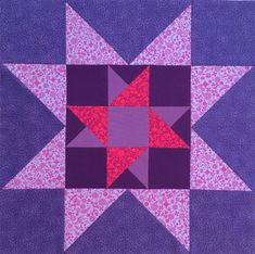 Sawtooth Star quilt block with Spinning Star center