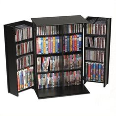 "Prepac 34"""" Locking CD DVD Media Storage Cabinet ($137) ❤ liked on Polyvore featuring home, furniture, storage & shelves, black, locking dvd storage cabinet, cd media storage cabinet, black media storage cabinet, dvd media storage cabinet and door storage cabinet"