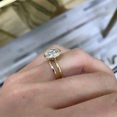 Old European Cut Bezel Set Engagement Ring Beautiful Engagement Rings, Engagement Ring Cuts, Bezel Set Ring, Old Rings, Unique Diamond Rings, Wedding Ring Bands, Diamond Shapes, Wedding Goals, Wedding Dreams
