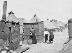 Women and Children at a Refugee Camp After the April 18, 1906, San Francisco Earthquake and Fire
