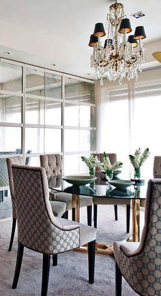 Modern chic dining room design