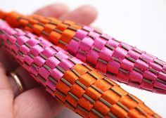 Indian Pink and Orange Large Organic Lavender Wand by YourZenZone, $24.00
