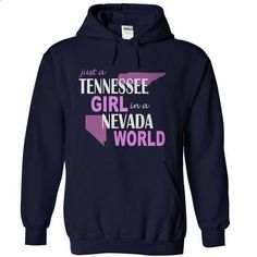 Tennessee girl in Nevada - #black shirt #tshirt quotes. I WANT THIS => https://www.sunfrog.com/States/Tennessee-girl-in-Nevada-NavyBlue-Hoodie.html?68278