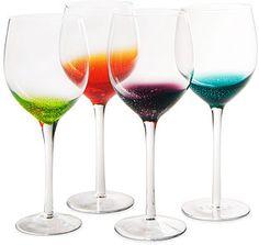 Fizzy Wine Glasses - Set of 4