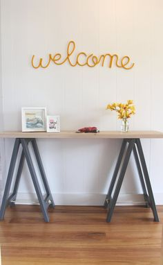Delightful Hall/console Trestle Table, Exceptional Quality, Custom Made, Hand Made In